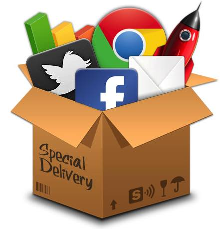 email marketing social media box