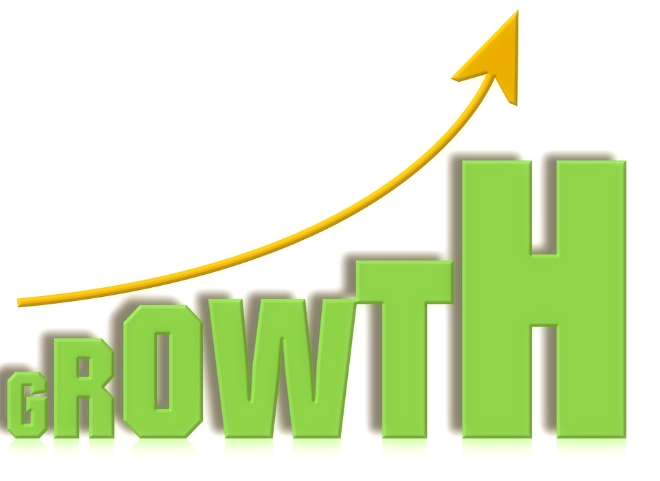 Growth Curve Graph Green