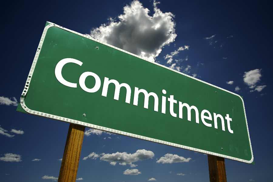 Being Committed Commitment sign