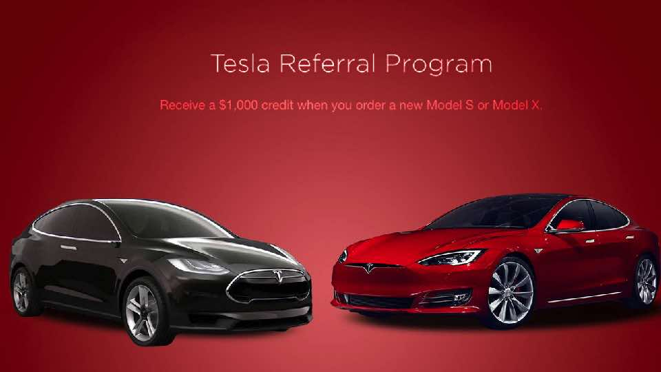 Tesla Referral Marketing Example Campaign