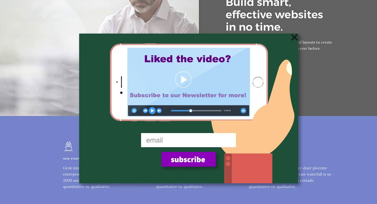 Video Subscription Popup