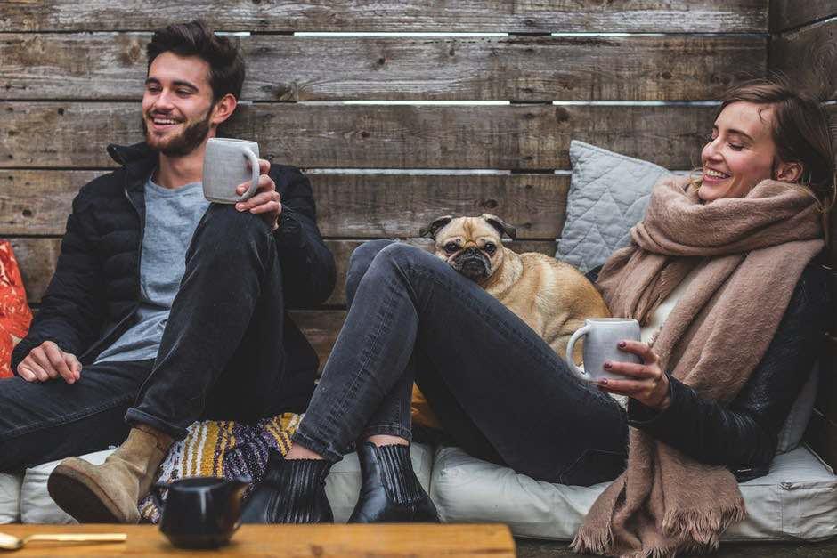 Happy Employees Coffee Wood Dog