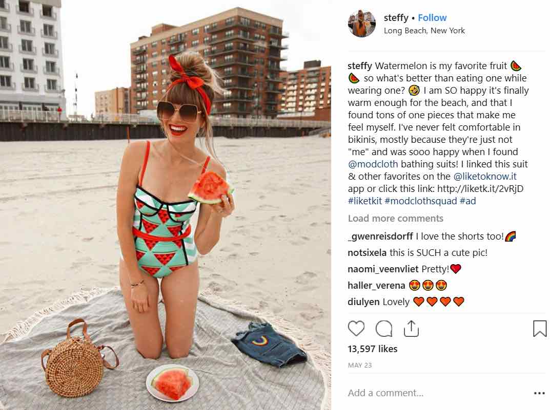 Foodie Instagram Influencer Watermelon